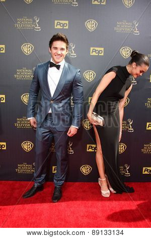 LOS ANGELES - APR 26:  Casey Moss at the 2015 Daytime Emmy Awards at the Warner Brothers Studio Lot on April 26, 2015 in Burbank, CA