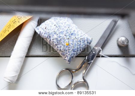 Sewing Accesories Background.