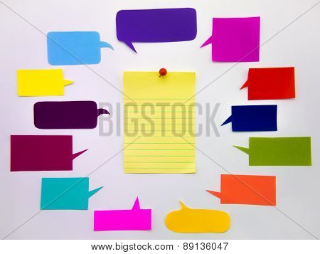 Colorful Balloons And Notes (white Background)