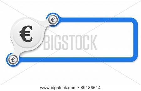 Vector Blue Box Frame With Euro