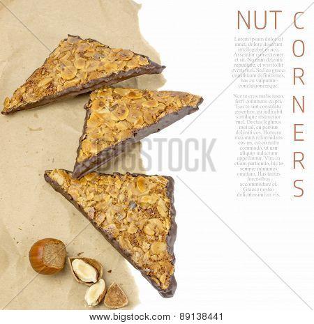 Traditional German Nut Corner Cakes