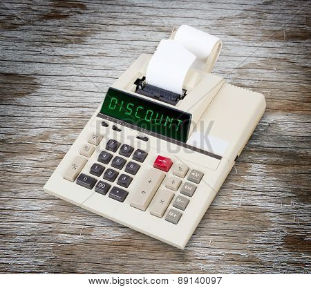 Old Calculator - Discount