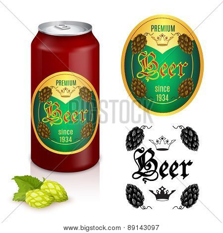 Premium beer label design