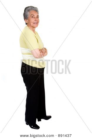 Elderly Happy Woman - Full Body
