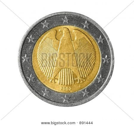 Back Of A Two Euro Coin