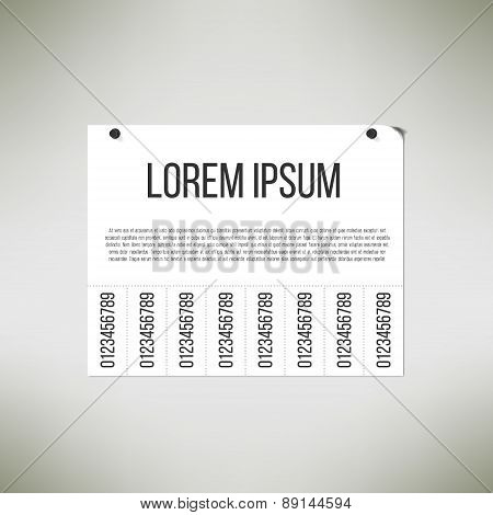 Steer wall advertisement message template. Urban announcement sign. Vector illustration.