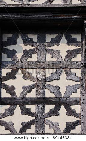 Elizabethen building panel, Stafford.