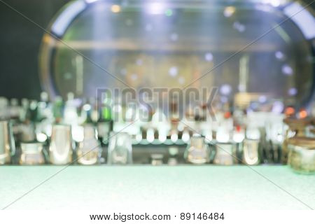 Blurry drink counter
