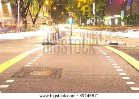 Orchard road night scene