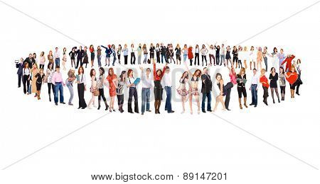 People Diversity Isolated over White