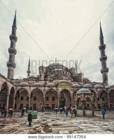 Blue Mosque Courtyard, Istanbul