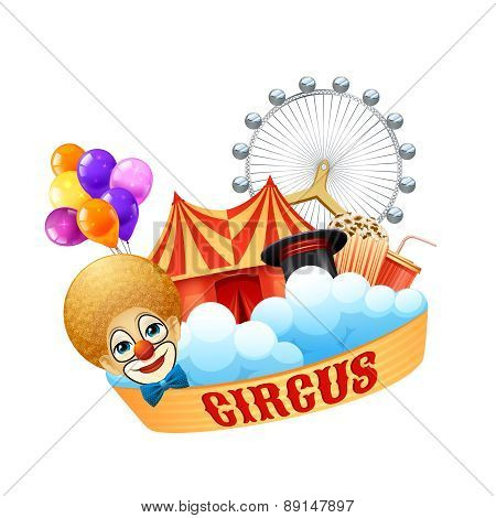 Colorful circus concept