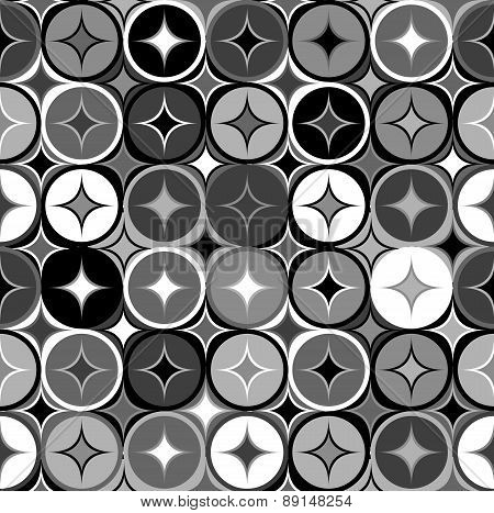 Black And White Geometric Seamless Backgroud