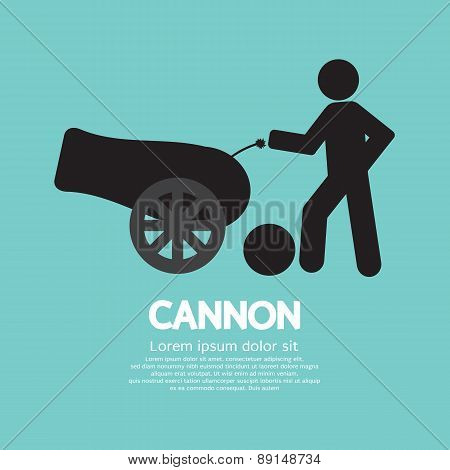 Human With Cannon Black Symbol.