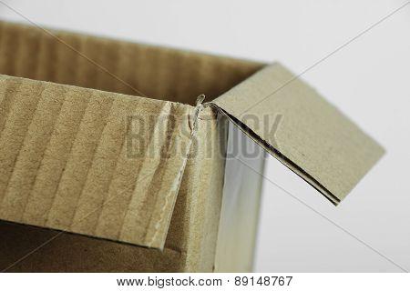 Brown Paper Box Closeup