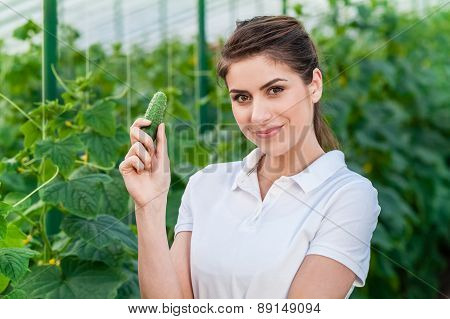 Young female garden worker