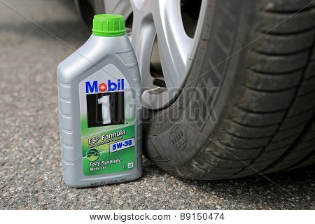 Container Of Mobil1 Fully Synthetic Motor Oil