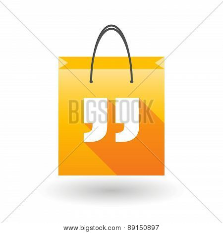 Yellow Shopping Bag Icon With Quotes