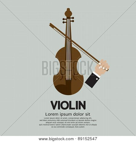 Violin Stringed Musical Instrument.