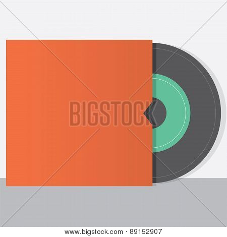 Vinyl With Envelope Vintage Style.
