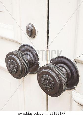 Vintage Doorknob Architecture Details