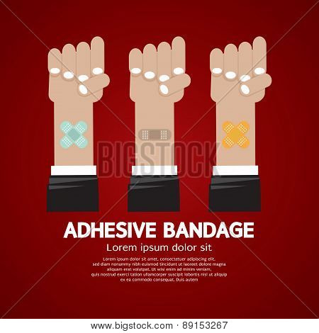 Set Of Adhesive Bandage.