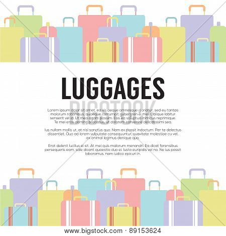 Many Luggages Travel Concept.