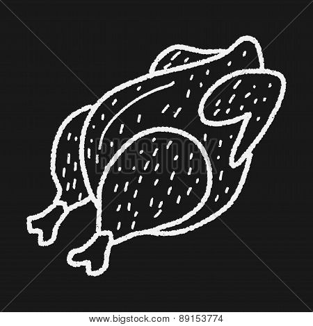 Roast Chicken Doodle Drawing