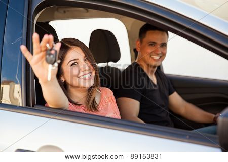 Newlyweds With A New Car