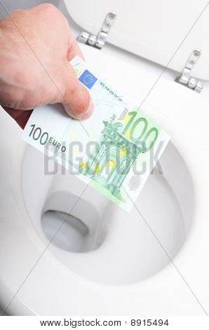 Money And Toilet
