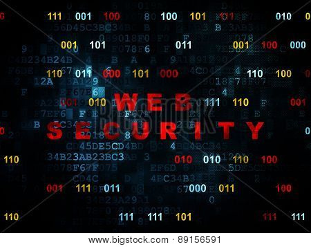 Security concept: Web Security on Digital background