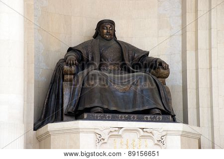 Bronze Statue Of The Great Emperor - Genghis Khan