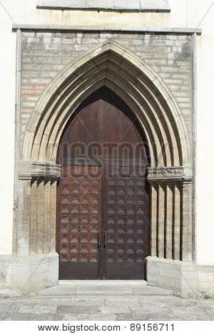 Old Door Of St. Nicholas Church.