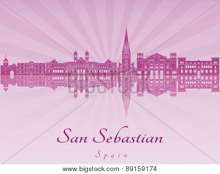 San Sebastian Skyline In Purple Radiant Orchid