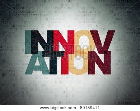 Finance concept: Innovation on Digital Paper background