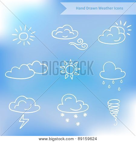 Hand Drawn Weather Vector Icons