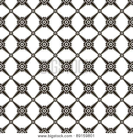 Modern Black And White Seamless Pattern