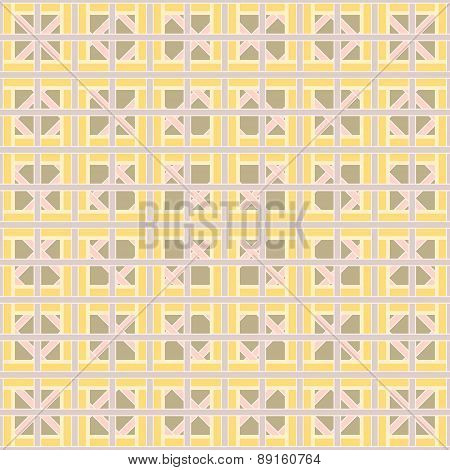 Abstract Geometric Seamless Pattern Of Interlocking Bands