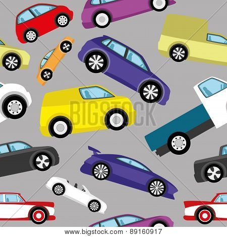 Vector background. Cars.