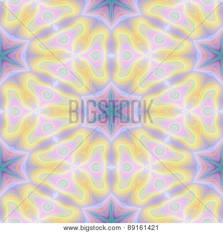 Seamless Kaleidoscope Texture Or Pattern In Pastel Colors 2