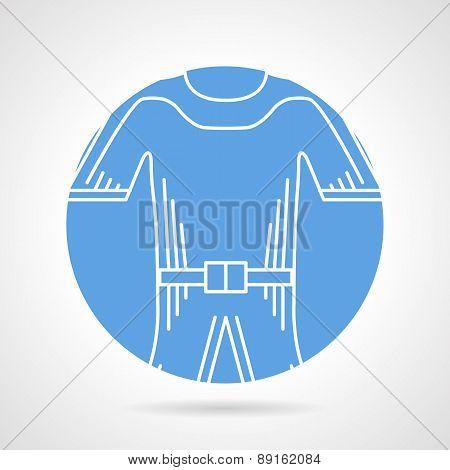 Wetsuit round vector icon