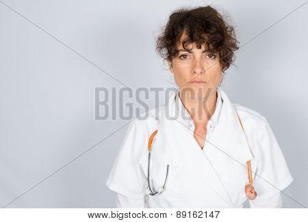 Portrait Friendly, Smiling, Confident Female Doctor,