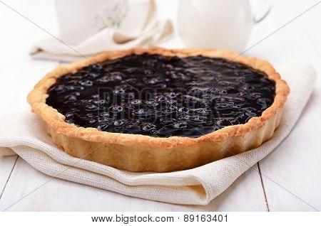 Pie With Blueberry Jam