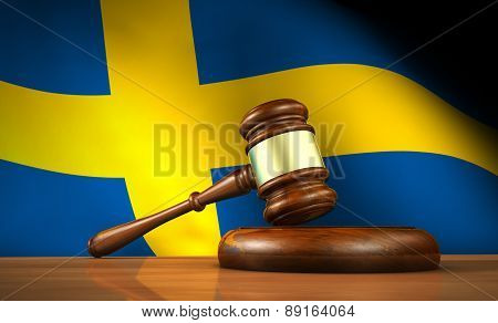 Swedish Law And Justice Concept