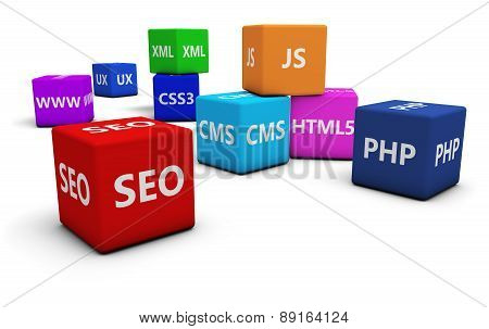 Seo And Web Design Concept