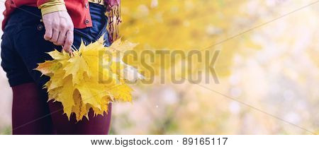 Conceptual image of autumn leaves