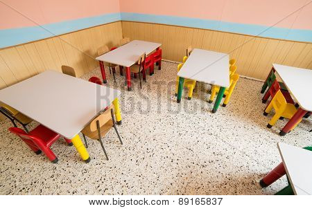 Canteen Of A Refectory Of Kindergarten