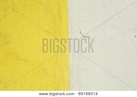 Vintage Colored Brick Wall Background. Instagram Style Yellow And White