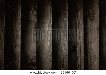 Background Texture Of The Walls, Dark Wood Planks.