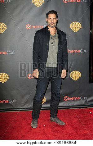 LAS VEGAS - APR 21:  Joe Manganiello at the Warner Brothers 2015 Presentation at Cinemacon at the Caesars Palace on April 21, 2015 in Las Vegas, CA